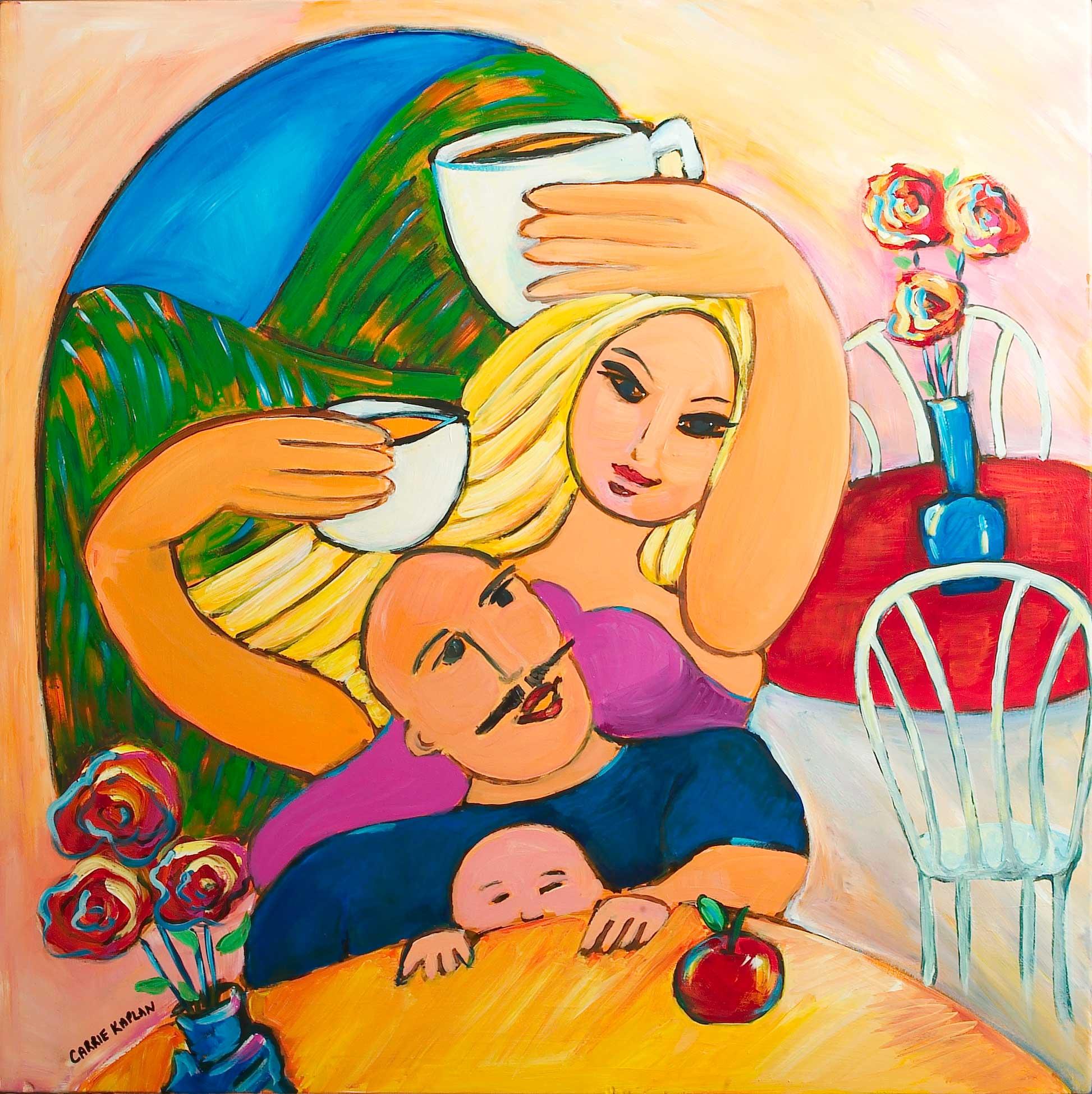 """Apple Of My Eye Acrylic On Wood 40"""" X 40"""""""
