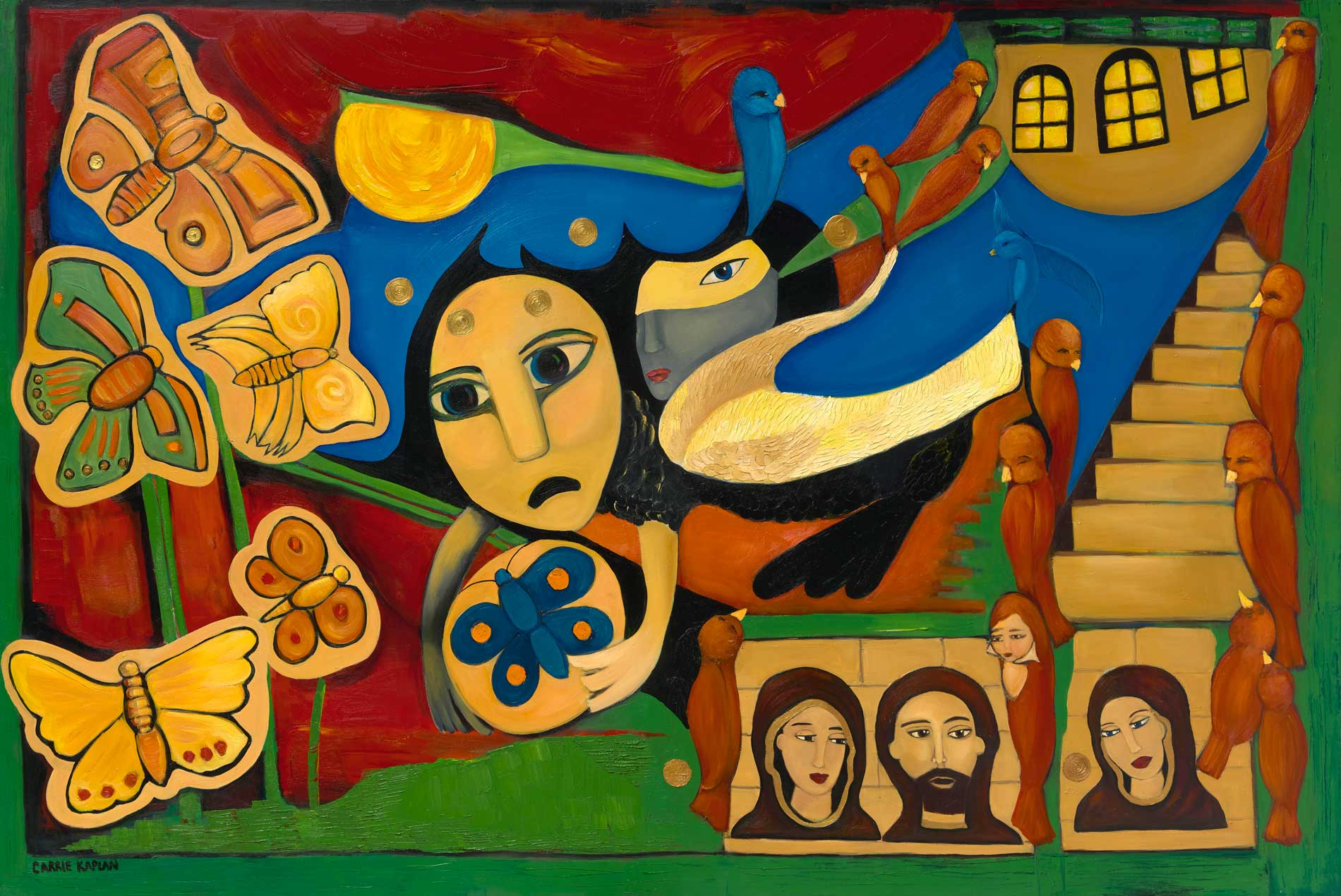 "Confrontation Oil On Canvas 48"" X 72"""