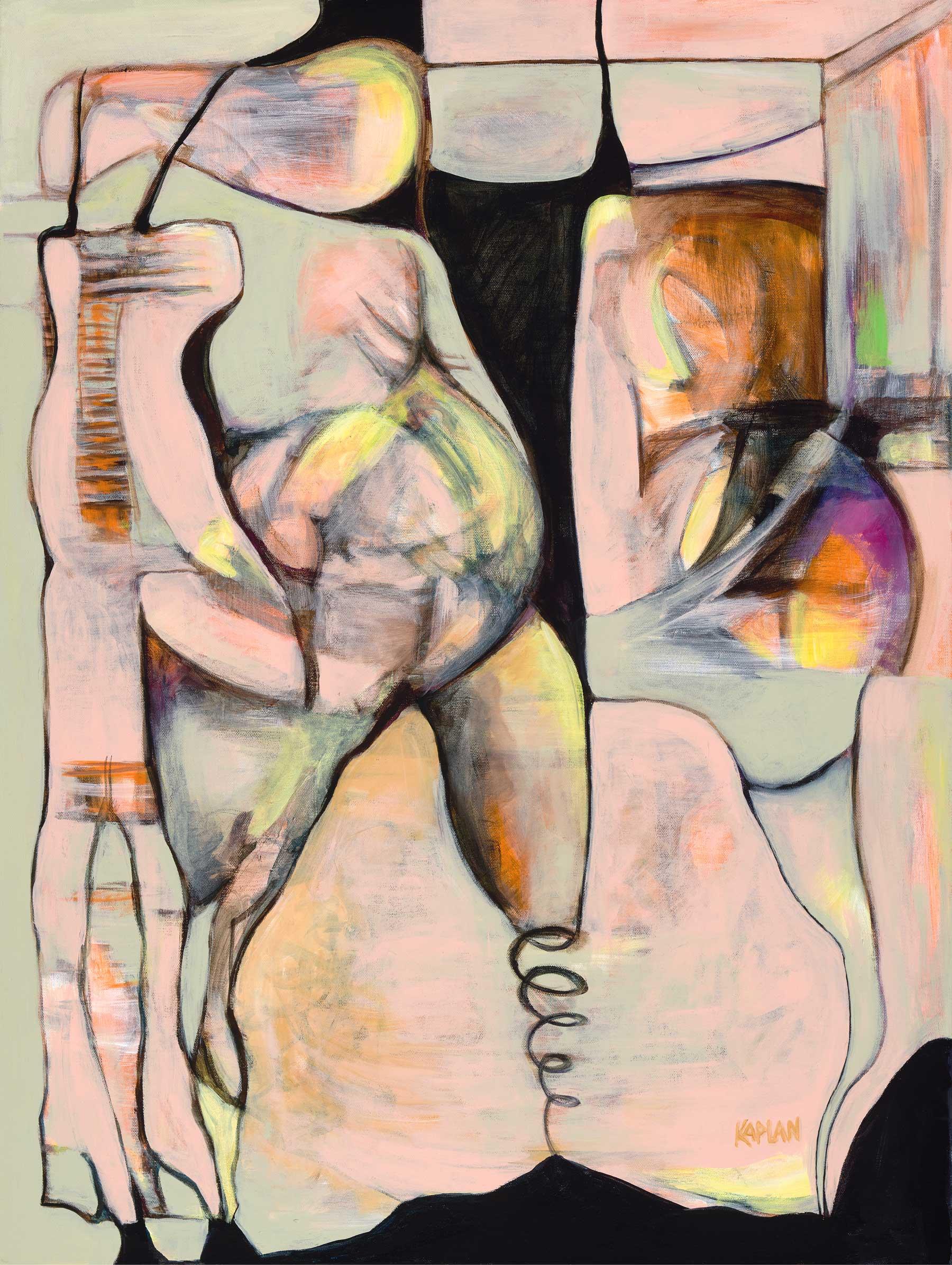 "Gestation Acrylic On Canvas 30"" x 40"""