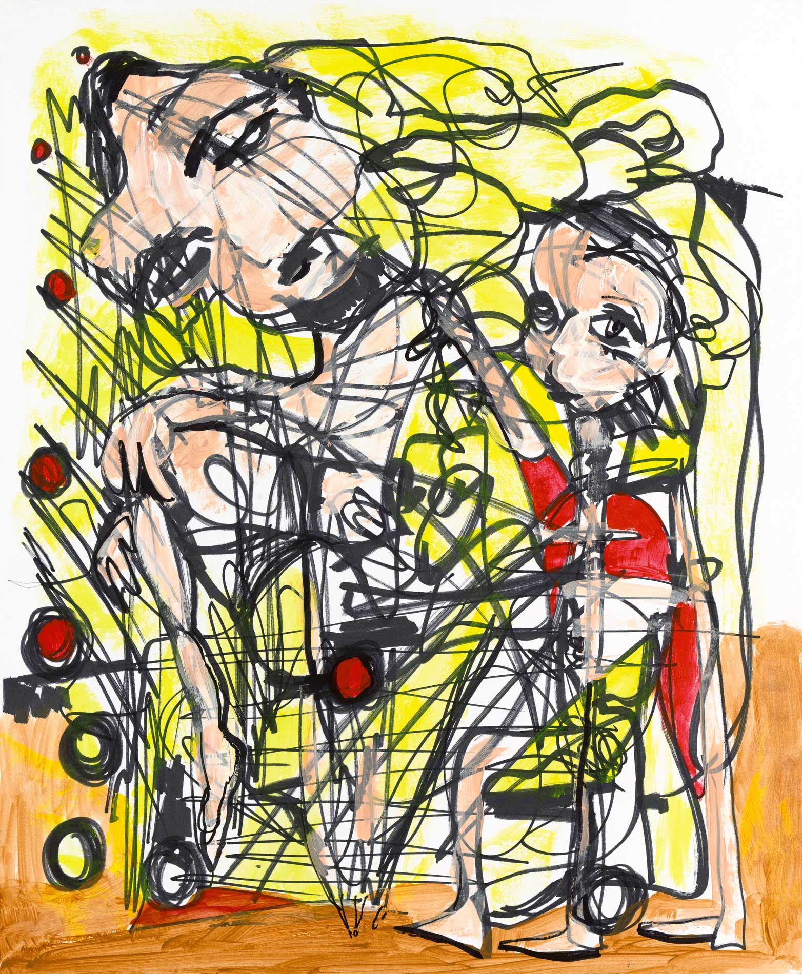 """Stabelization Acrylic Ink On Paper 14"""" X 17"""""""