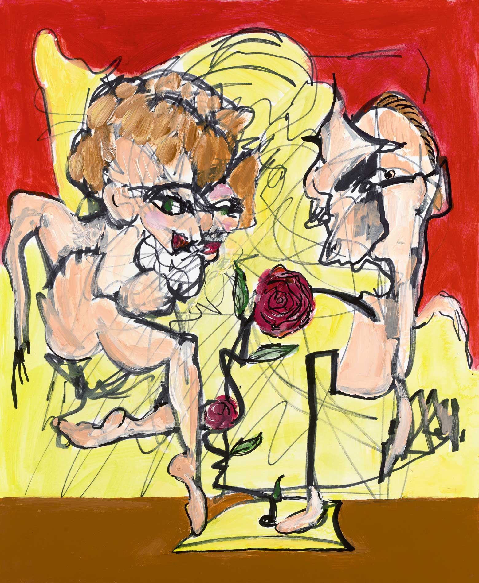 """The Proposal Acrylic Ink On Paper 14"""" X 17"""""""