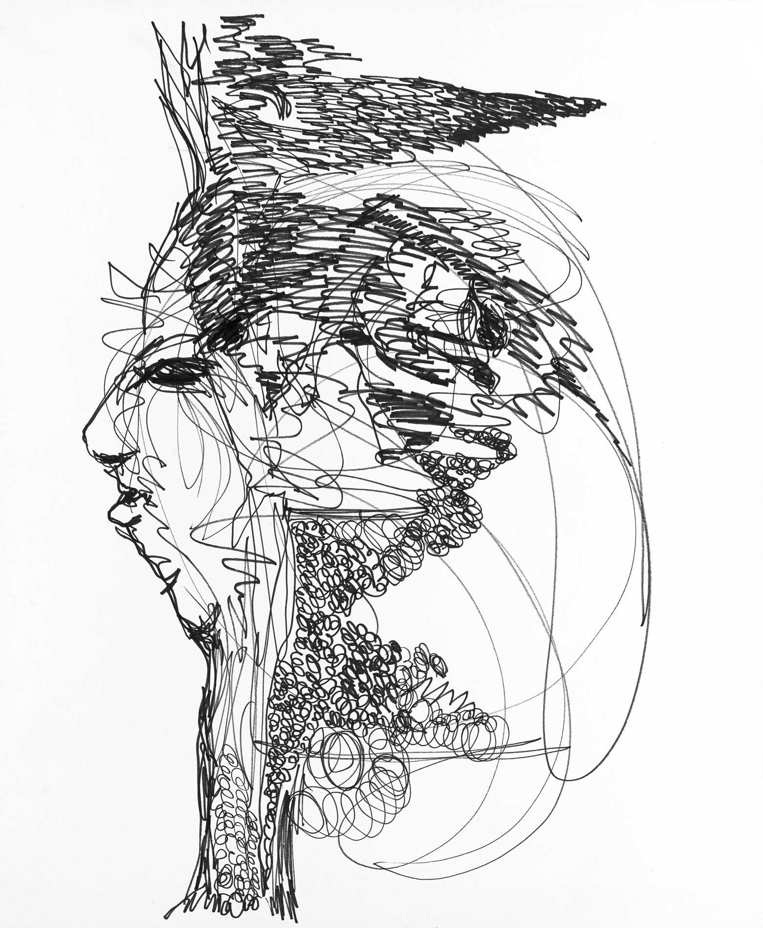 """This And That Ink On Paper 14"""" X 17"""""""