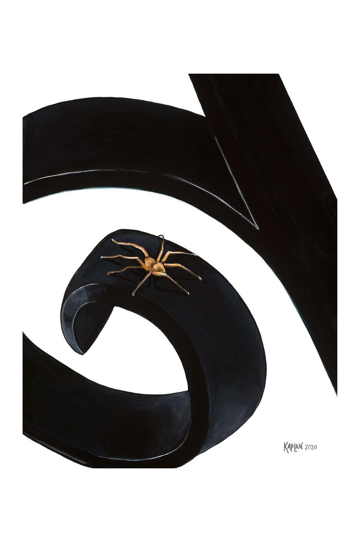Spider Acrylic On Canvas 24x36